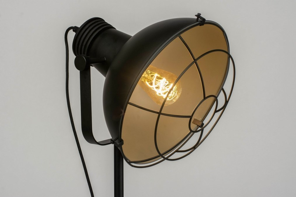 Floor lamp 73008: industrial look, modern, raw, metal #0