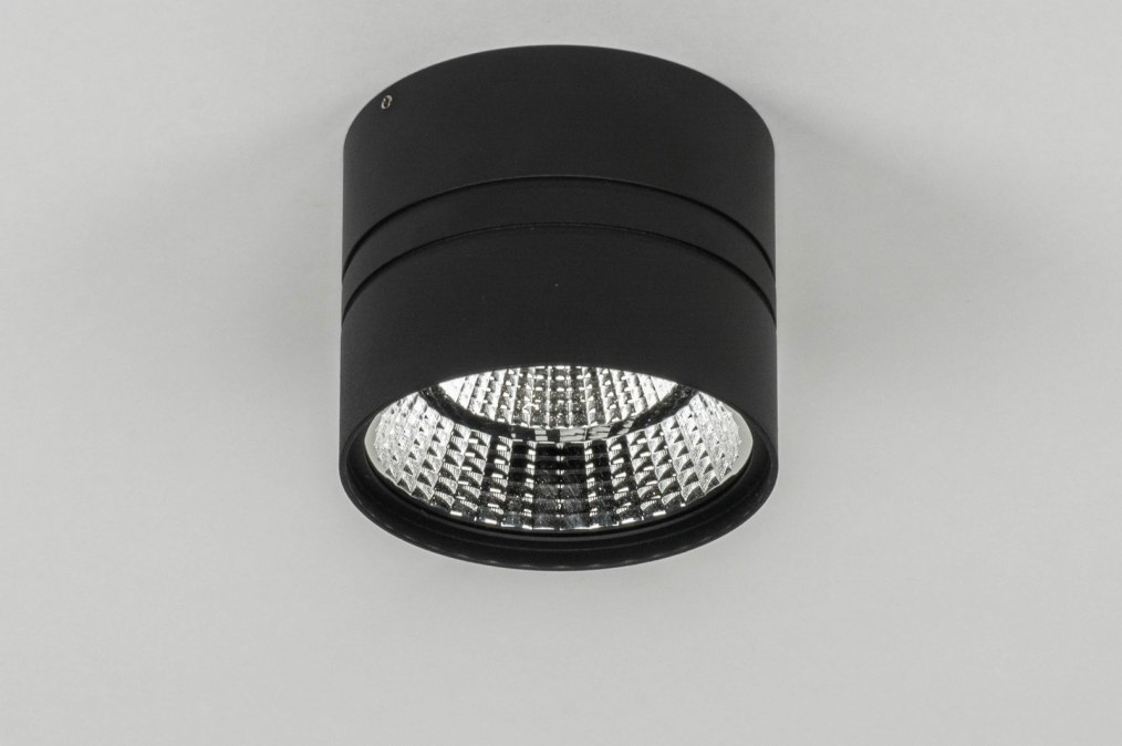 Plafondlamp 73042: modern, zwart, mat, aluminium #0