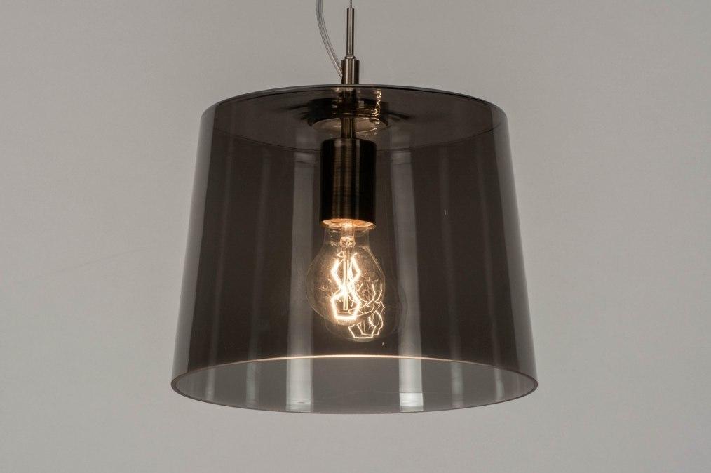 Hanglamp 73057: modern, glas, helder glas, staal rvs #0