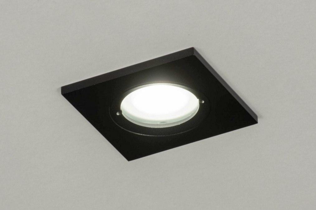 Spot encastrable 73086: look industriel, moderne, aluminium, acier #0