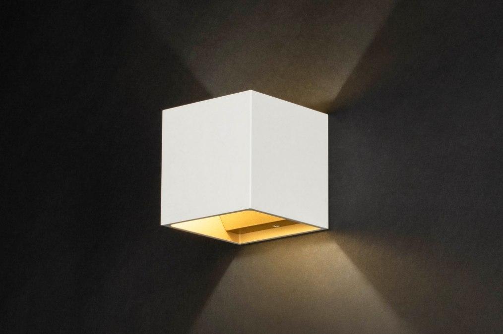 Wandlamp 73087: modern, aluminium, metaal, wit #0