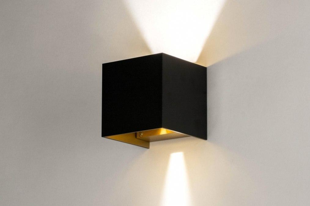 Wandlamp 73090: modern, aluminium, metaal, zwart #0