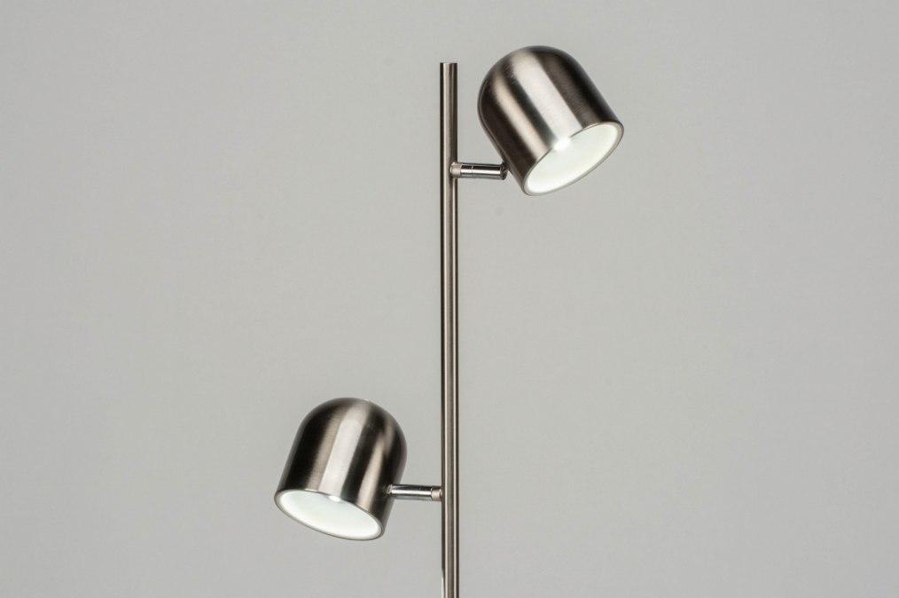 Staande lamp design modern staal rvs staalgrijs