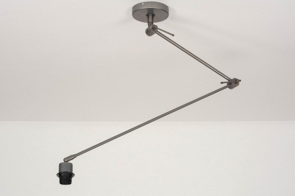 Hanglamp 73112: metaal, grijs, staalgrijs #0