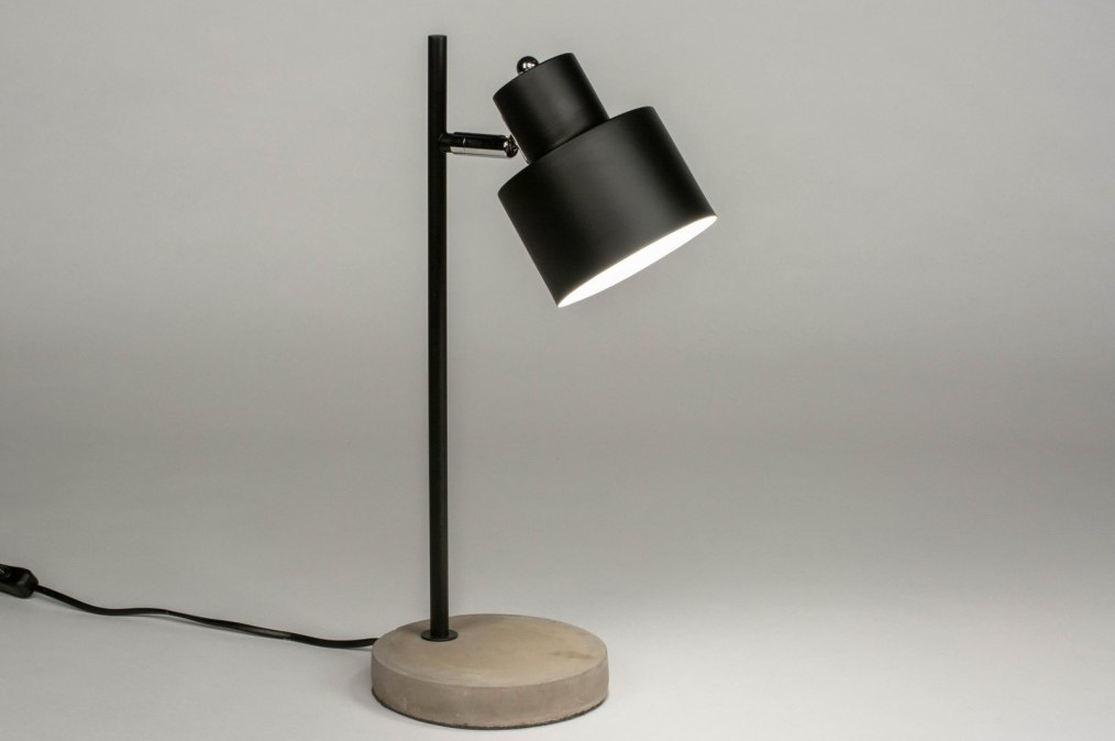 Table lamp 73122: modern, raw, concrete, metal #0
