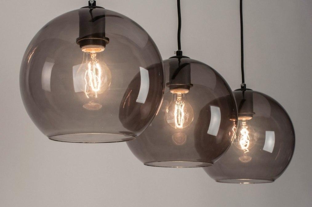 Hanglamp 73124: modern, retro, glas, metaal #0