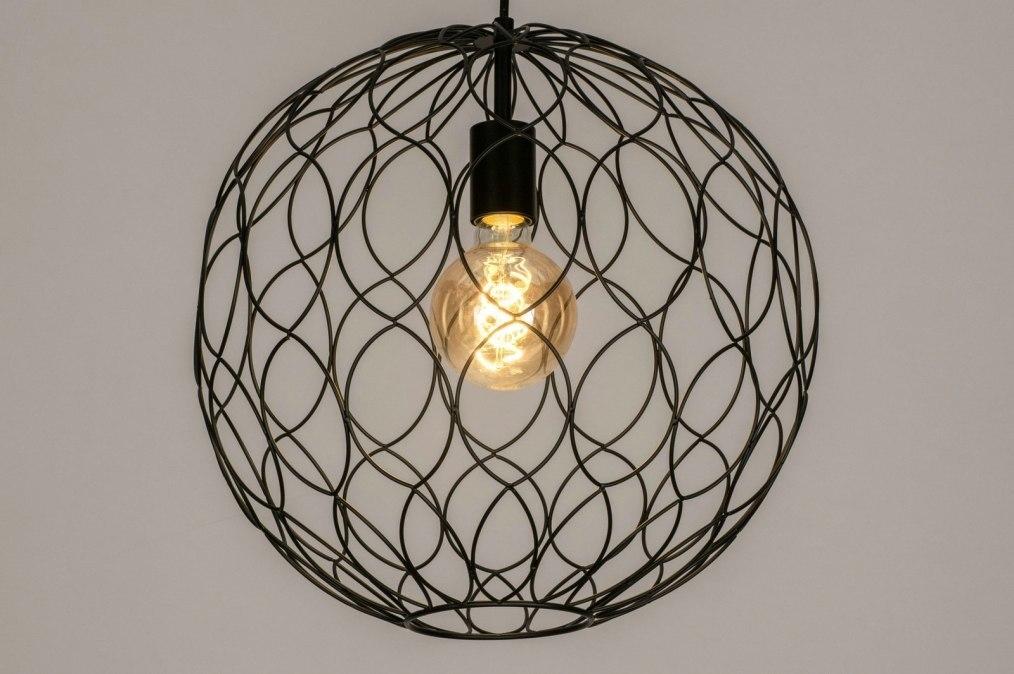 Hanglamp 73126: modern, metaal, zwart, mat #0