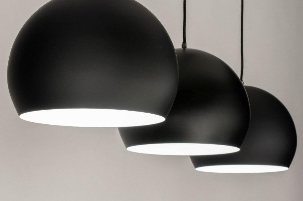 Hanglamp 73128: modern, retro, metaal, zwart #0