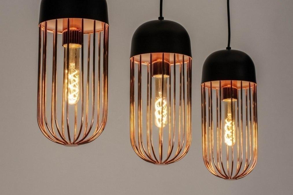 Hanglamp 73129: modern, metaal, zwart, mat #0