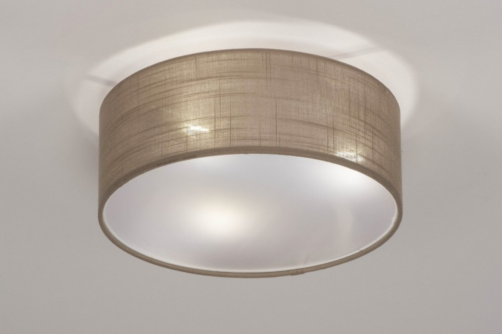 Ceiling lamp 73147: rustic, modern, fabric, taupe colored #0