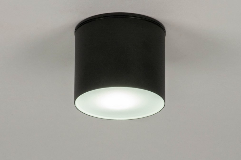 Ceiling lamp 73150: modern, aluminium, black, matt #0