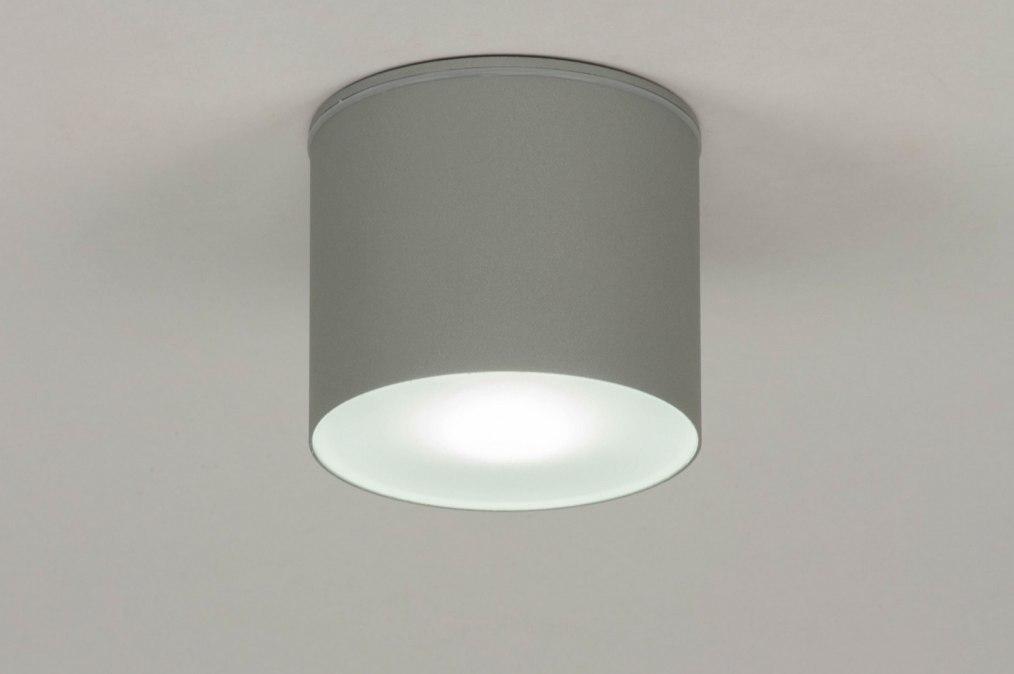 Plafondlamp 73152: modern, aluminium, grijs, rond #0