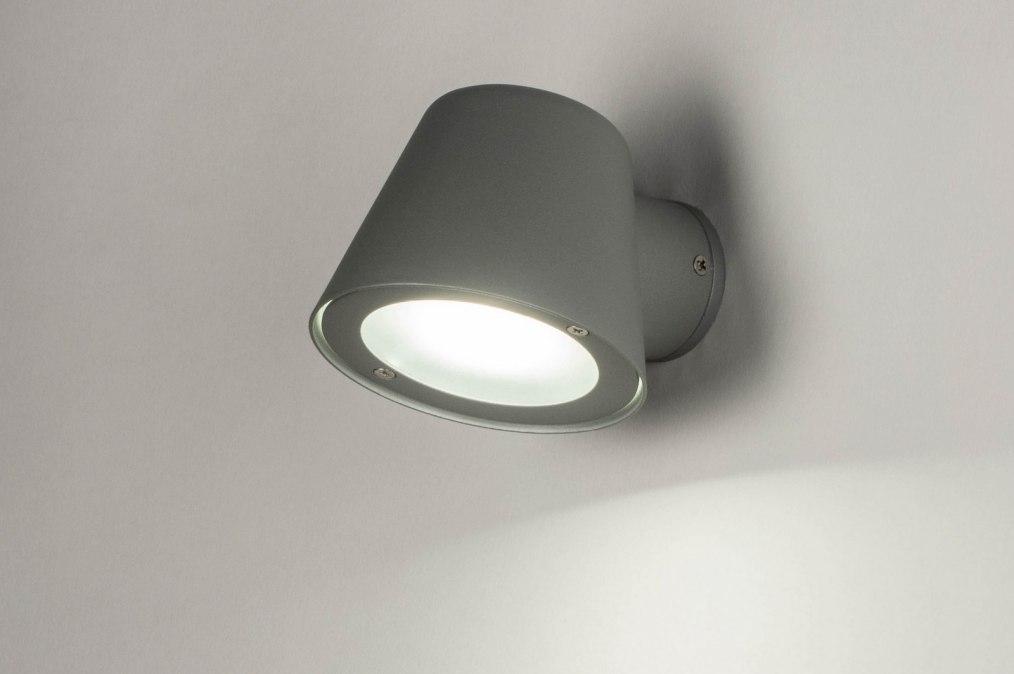 Wandlamp 73154: design, modern, aluminium, metaal #0