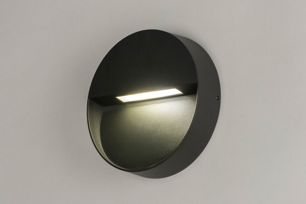 Wall lamp 73163: modern, aluminium, metal, dark gray #0