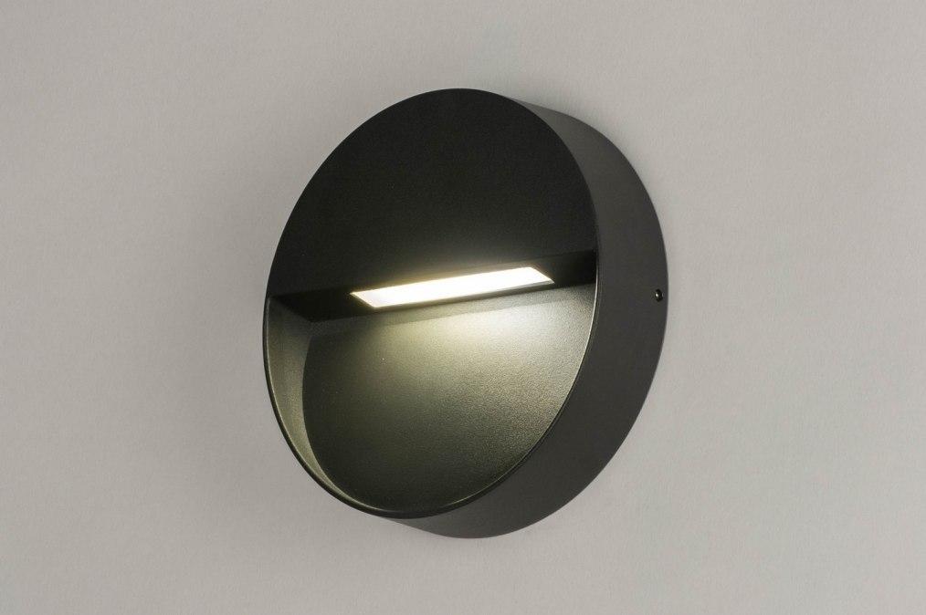 Wandlamp 73163: modern, aluminium, metaal, antraciet donkergrijs #0