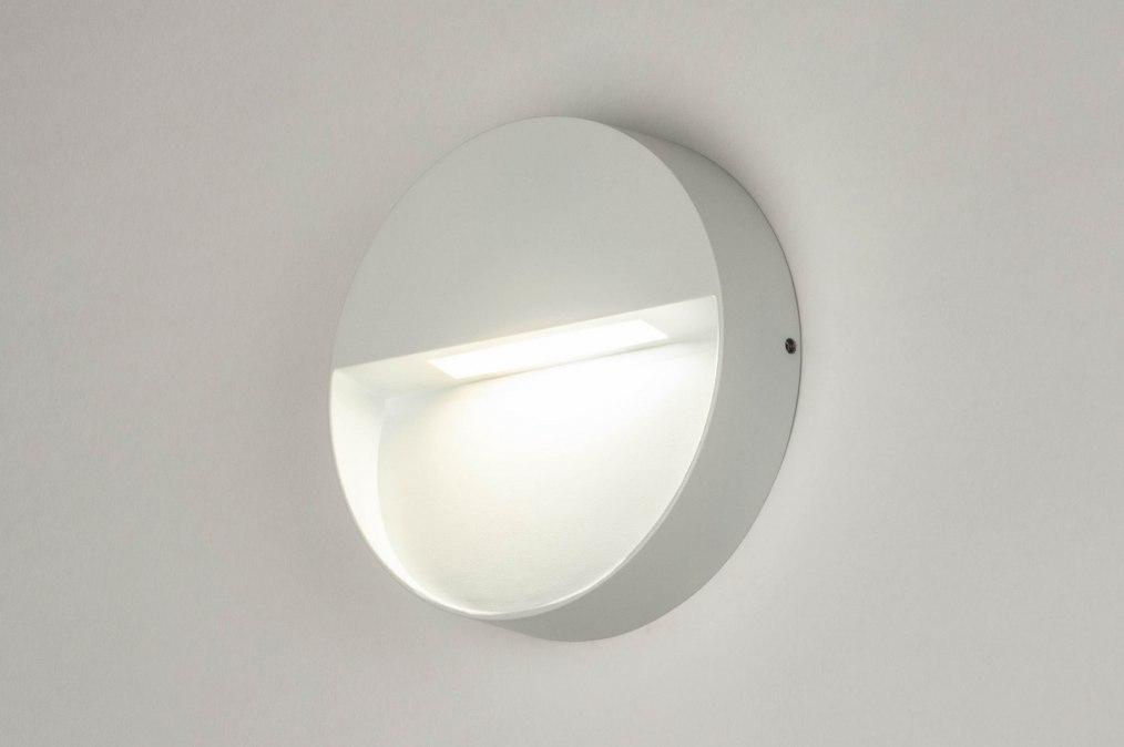 Wandlamp 73164: modern, aluminium, metaal, wit #0