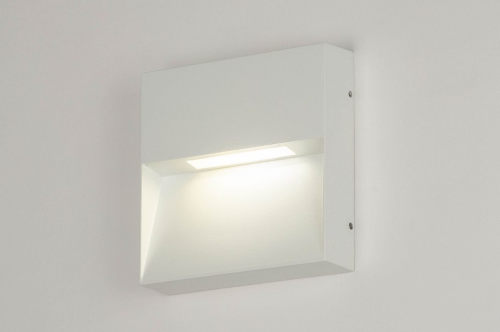 Wandlamp 73167: modern, aluminium, metaal, wit #0