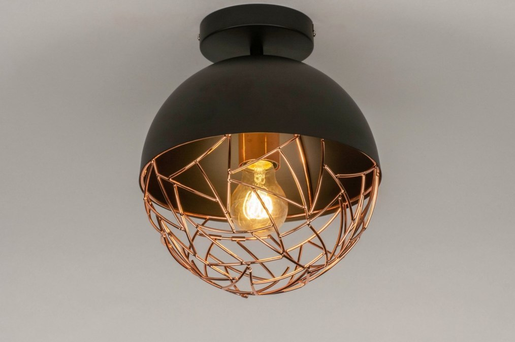 Ceiling lamp 73179: modern, retro, metal, black #0