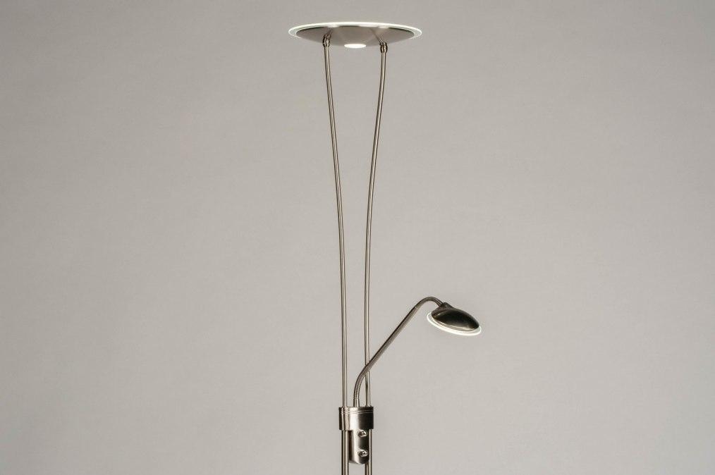 Vloerlamp 73187: modern, staal rvs, metaal, staalgrijs #0