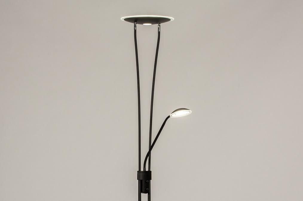 Vloerlamp 73189: modern, metaal, zwart, mat #0