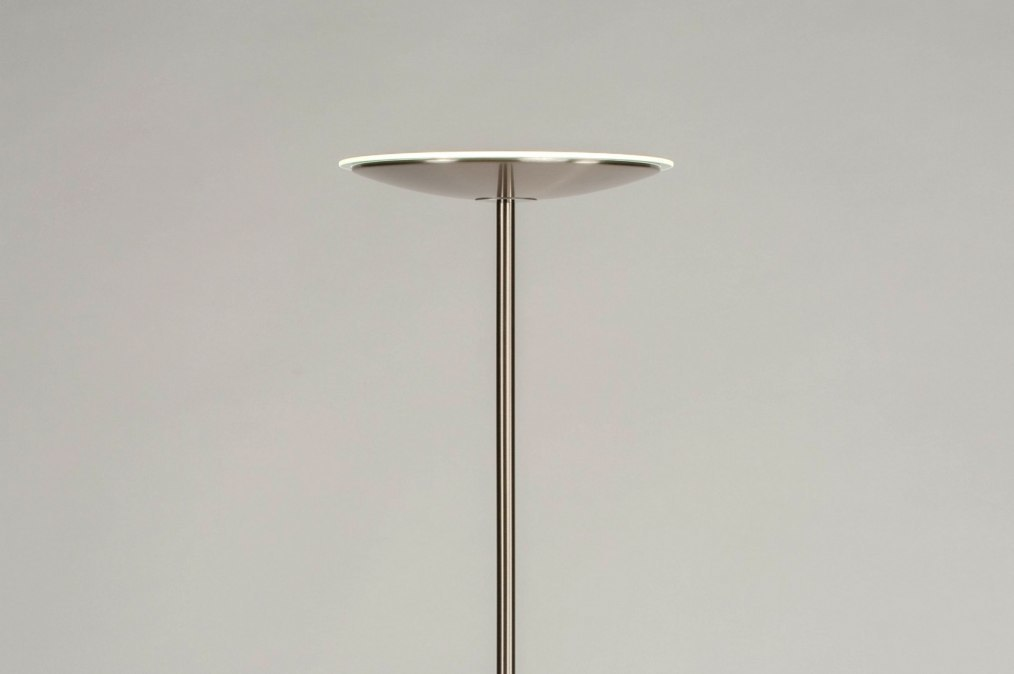 Floor lamp 73190: modern, stainless steel, metal, steel gray #0