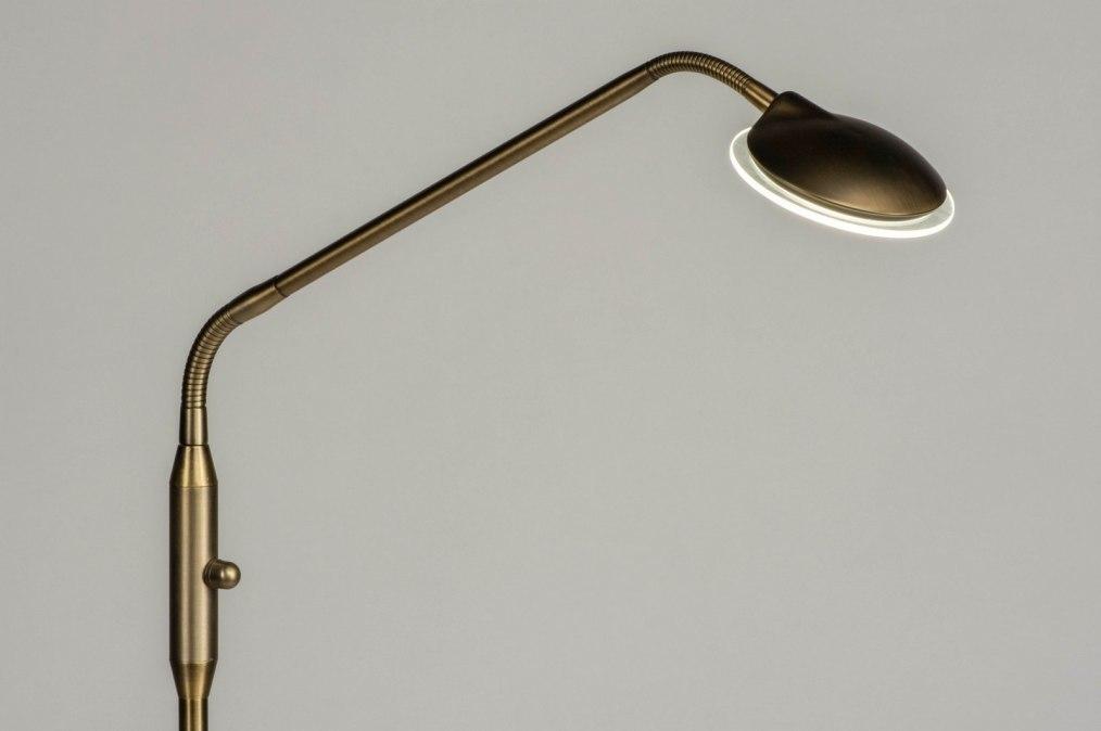 Vloerlamp 73195: modern, klassiek, eigentijds klassiek, brons #0