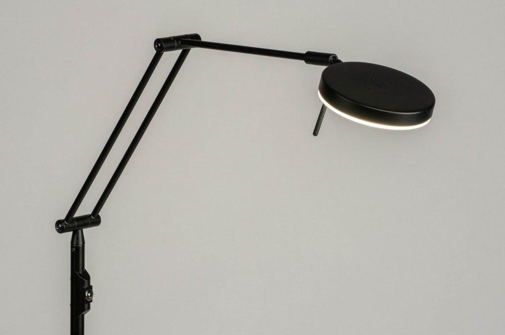 Vloerlamp 73198: modern, metaal, zwart, mat #0
