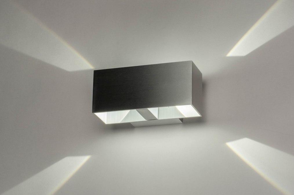Wandlamp 73213: design, modern, aluminium, aluminium #0