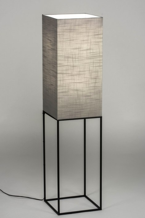 Floor lamp 73220: modern, fabric, metal, black #0