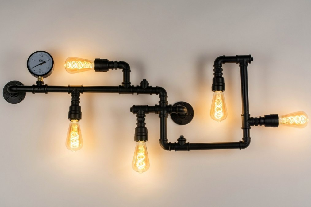 Wall lamp 73224: industrial look, modern, raw, metal #0