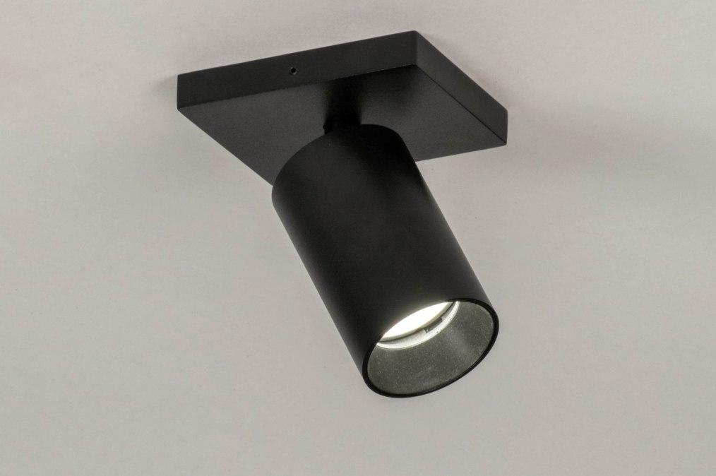 Spot 73234: moderne, aluminium, acier, noir #0
