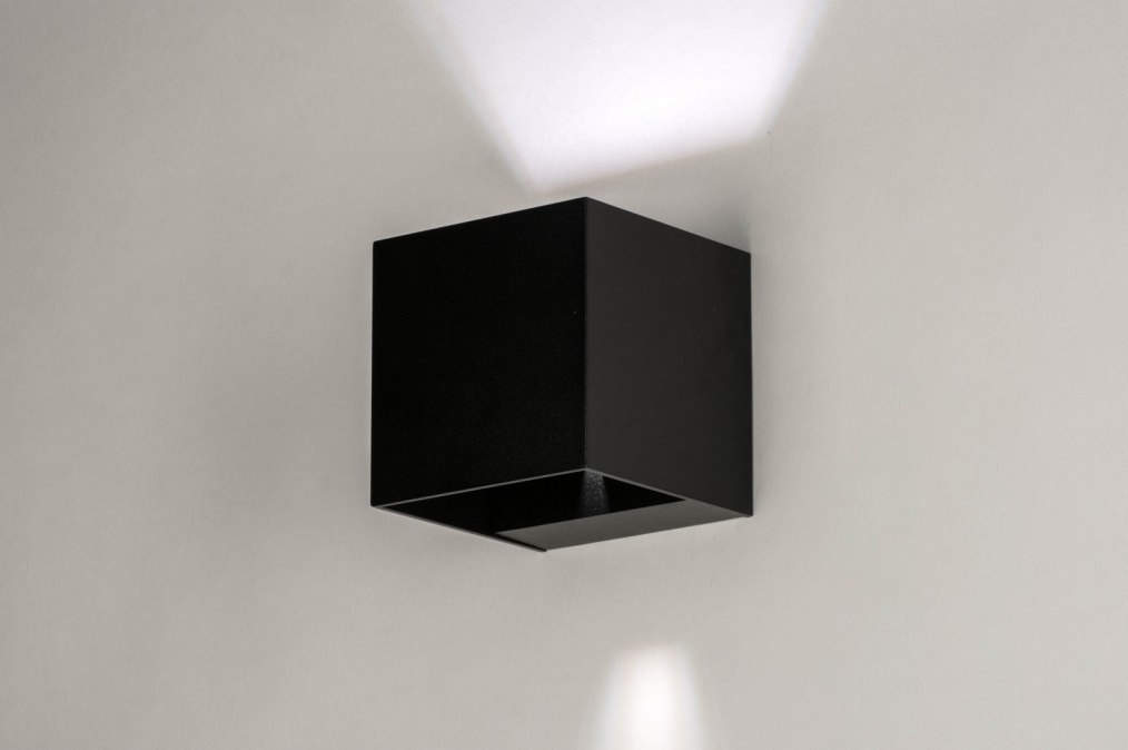 Wall lamp 73239: modern, aluminium, metal, black #0