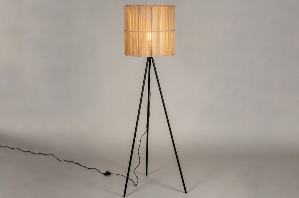 Floor lamp 73246: modern, retro, wood, metal #0