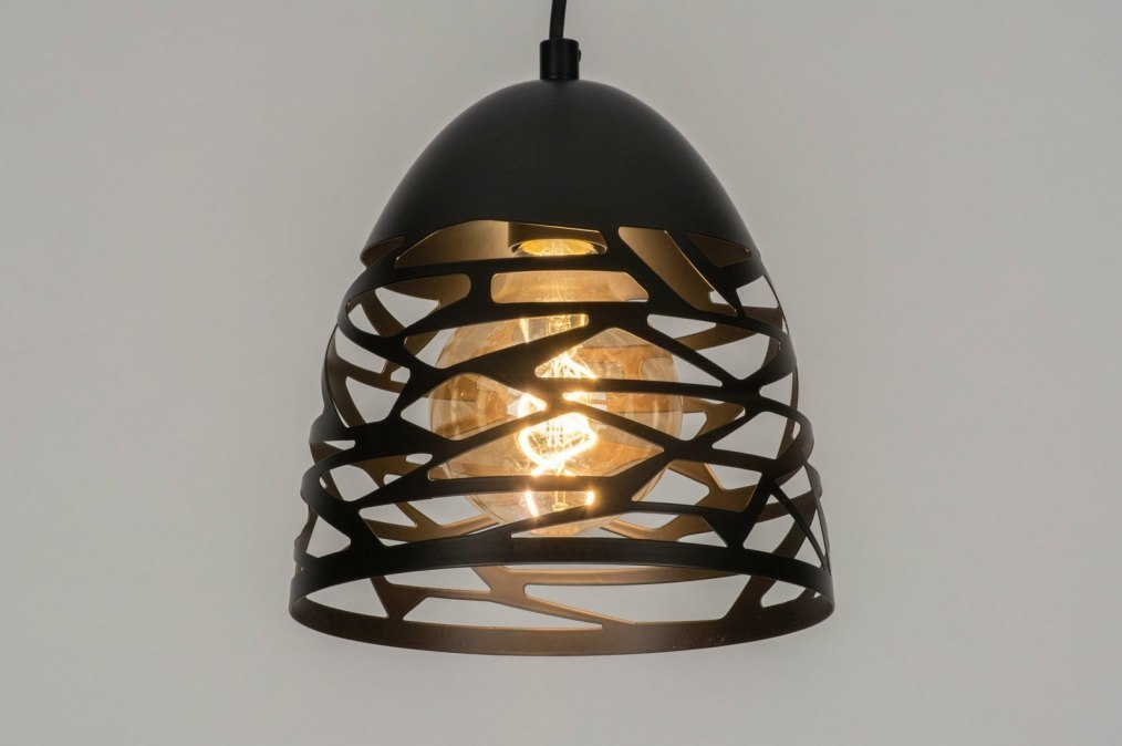 Pendant light 73253: modern, metal, black, matt #0
