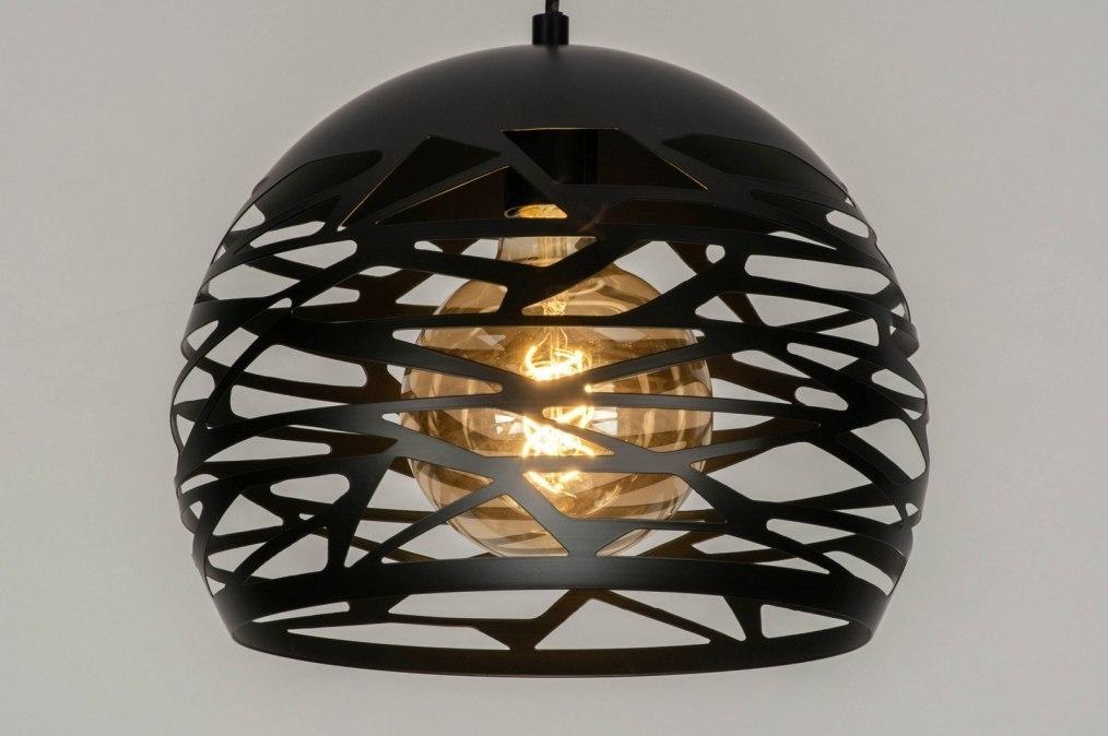 Hanglamp 73256: modern, metaal, zwart, mat #0