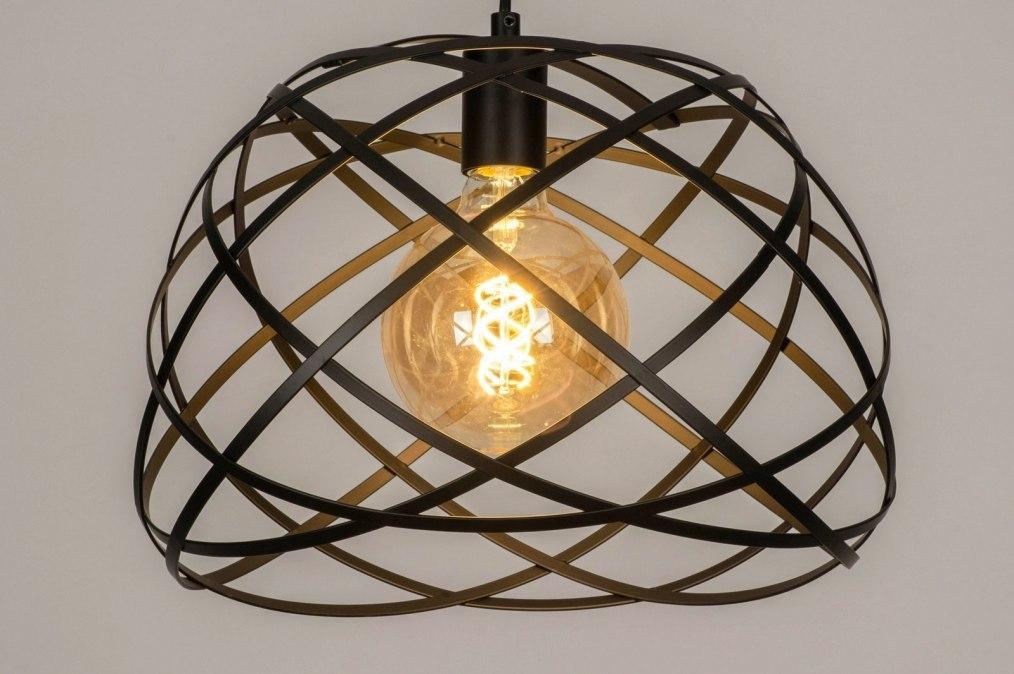 Hanglamp 73264: modern, metaal, zwart, mat #0