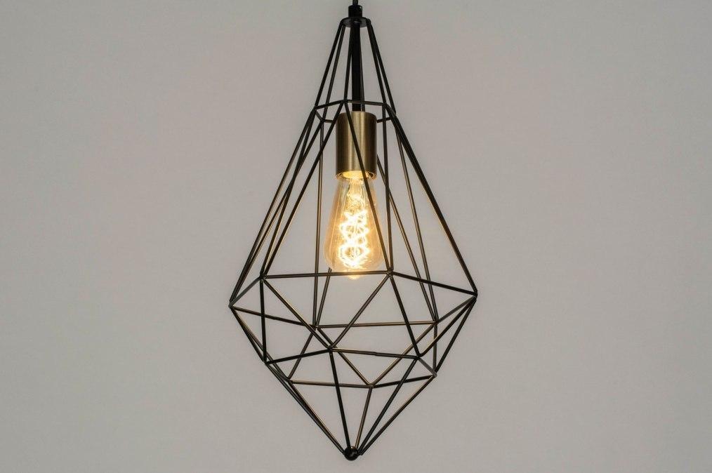 Hanglamp 73265: modern, messing, geschuurd, metaal #0