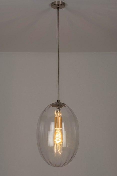 Hanglamp 73272: modern eigentijds klassiek art deco glas