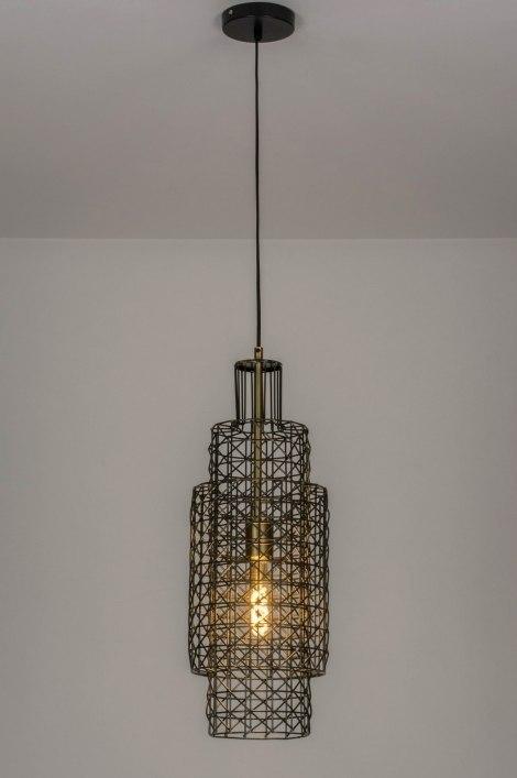 Pendant light 73276: modern, raw, metal, zinc #0