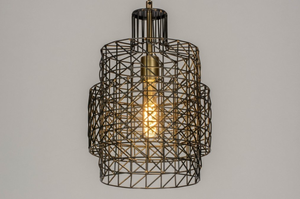 Pendant light 73278: modern, raw, metal, zinc #0
