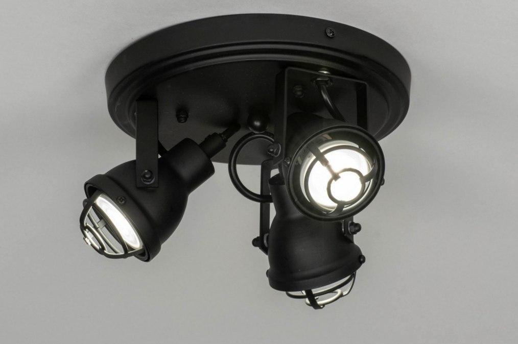 Plafondlamp 73290: industrie, look, landelijk, rustiek #0