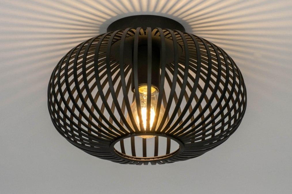 Plafondlamp 73295: modern, retro, metaal, zwart #0