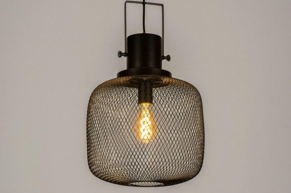 Suspension 73314: look industriel, moderne, lampes costauds, acier #0