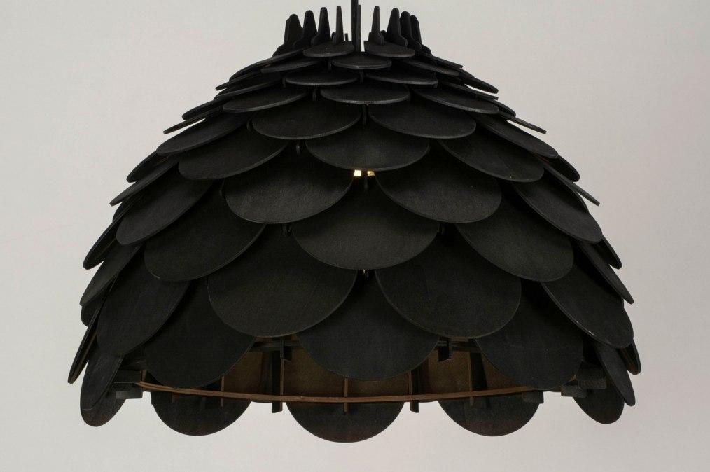 Hanglamp 73318: sale, modern, hout, zwart #0