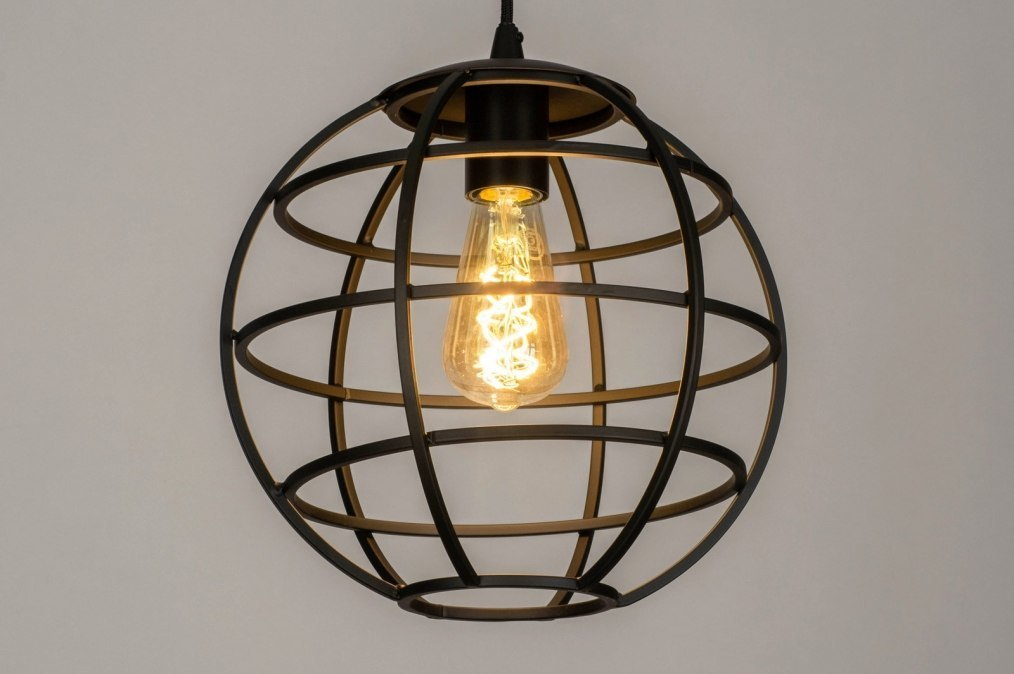 Pendant light 73320: industrial look, modern, metal, black #0