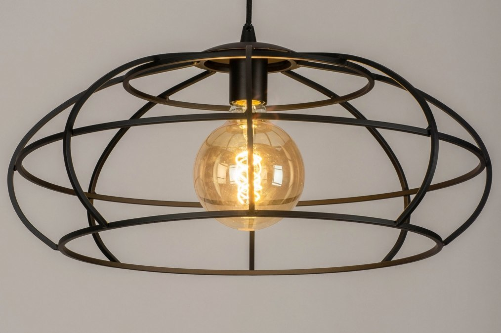 Pendant light 73321: industrial look, modern, metal, black #0
