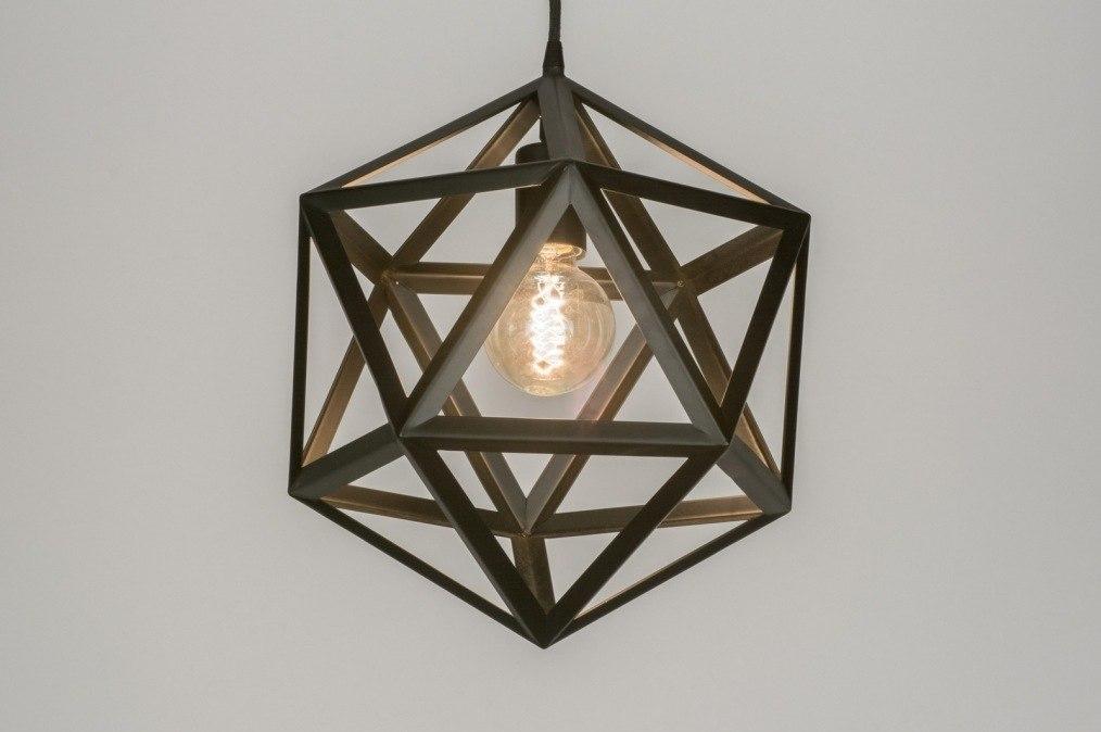 Hanglamp 73324: design, modern, metaal, zwart #0