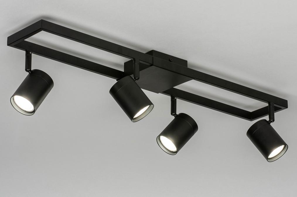Spot 73330: modern, aluminium, metaal, zwart #0