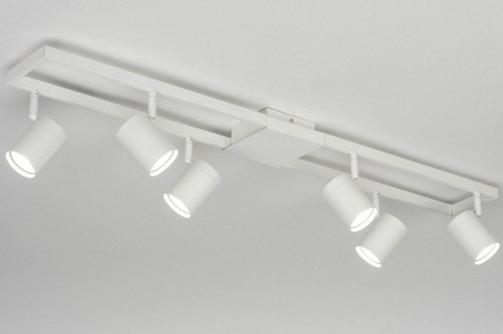 Plafondlamp 73332: modern, aluminium, metaal, wit #0