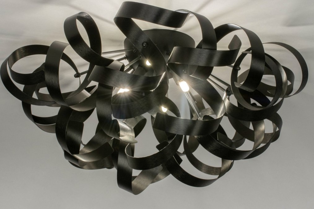 Plafondlamp 73339: modern, aluminium, geschuurd aluminium, metaal #0